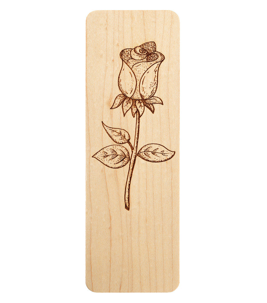 bookmark with rose