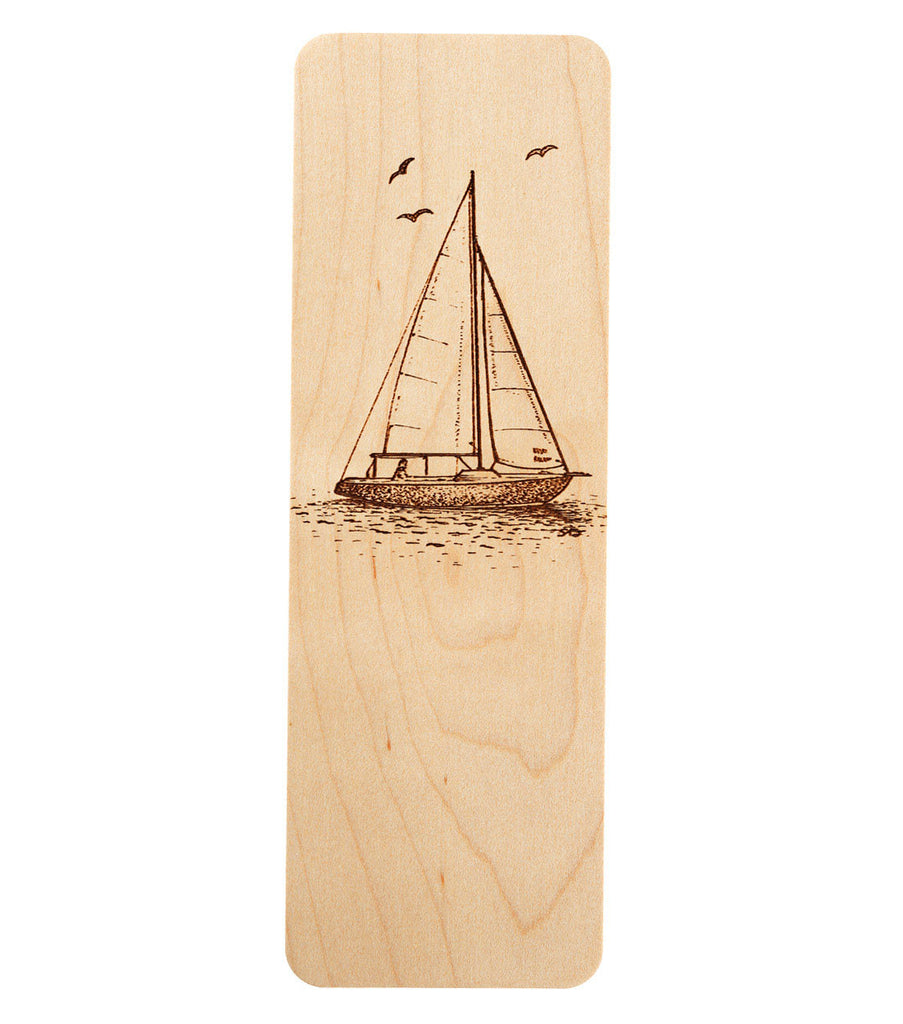 bookmark with sailboat