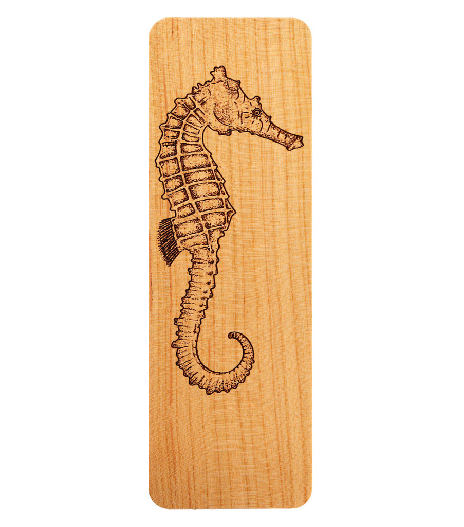 bookmark with seahorse