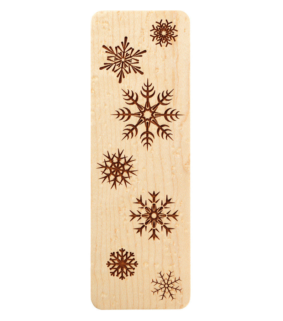 bookmark with snowflakes