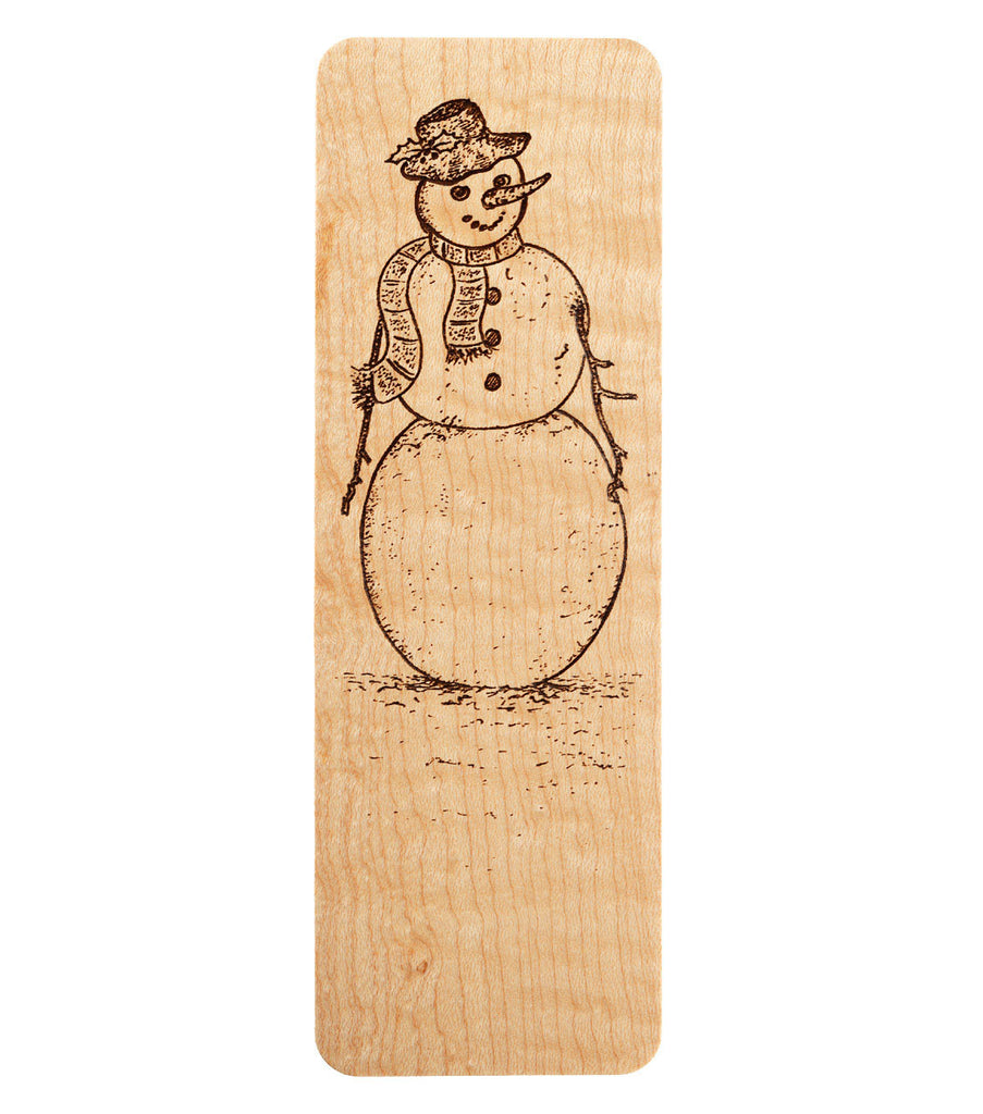 bookmark with snowman design