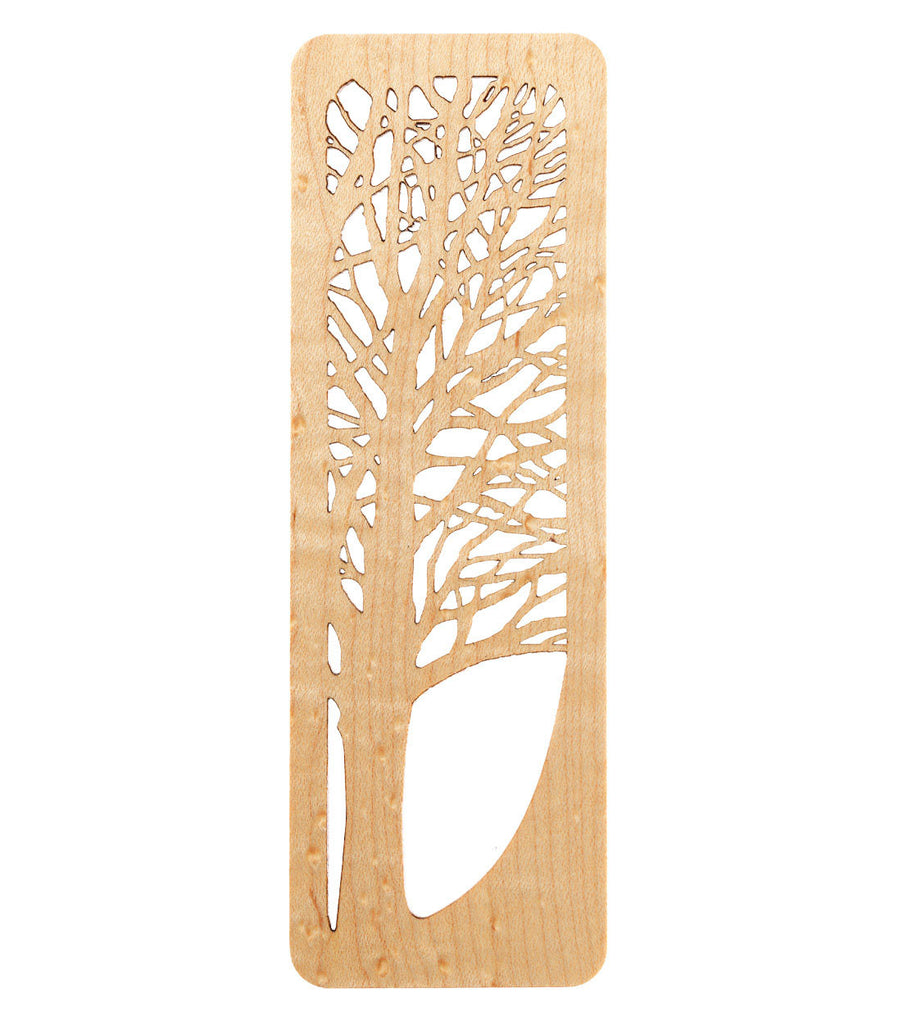 tree bookmark made from sugar maple