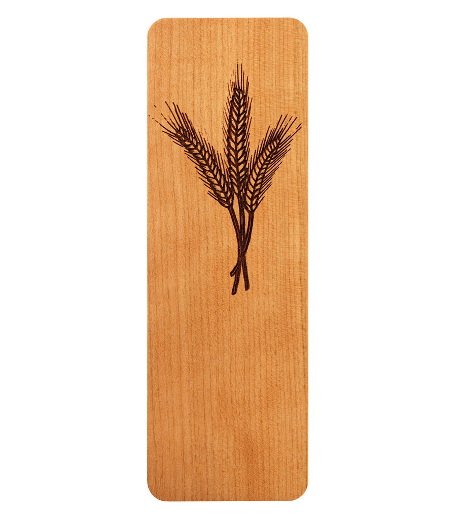 bookmark with wheat design