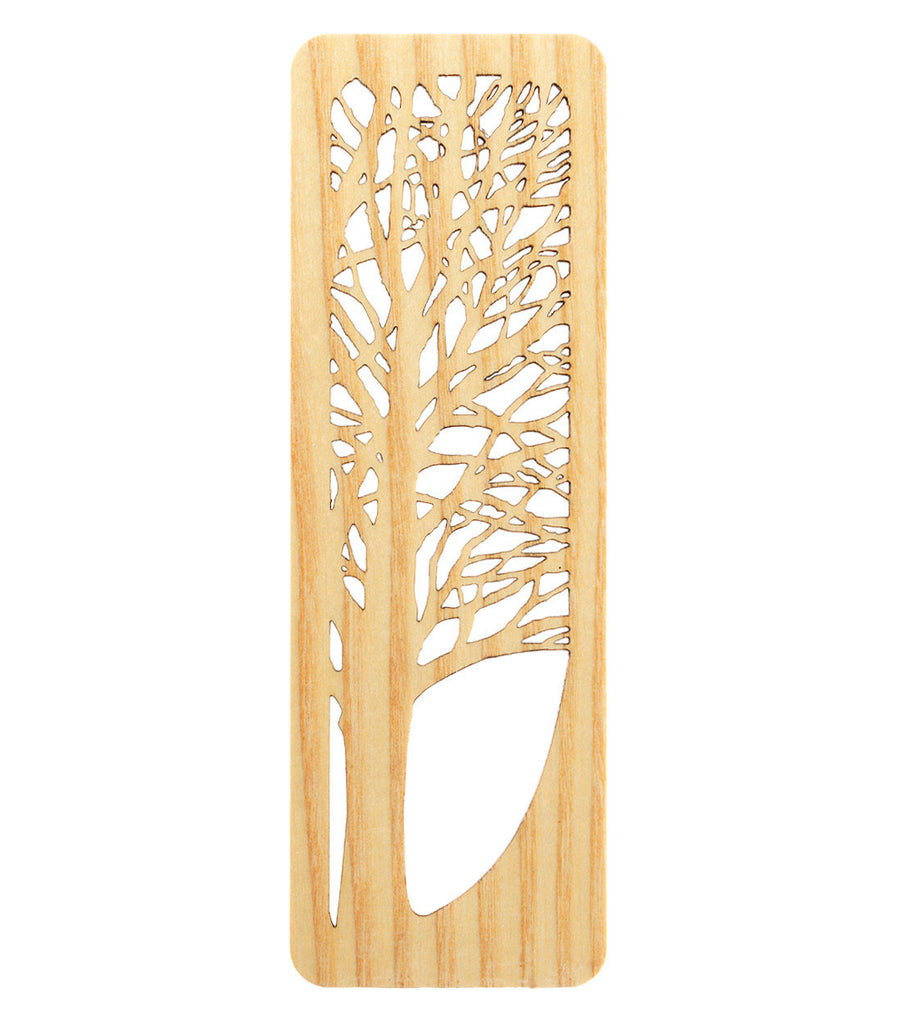 tree bookmark made from white ash