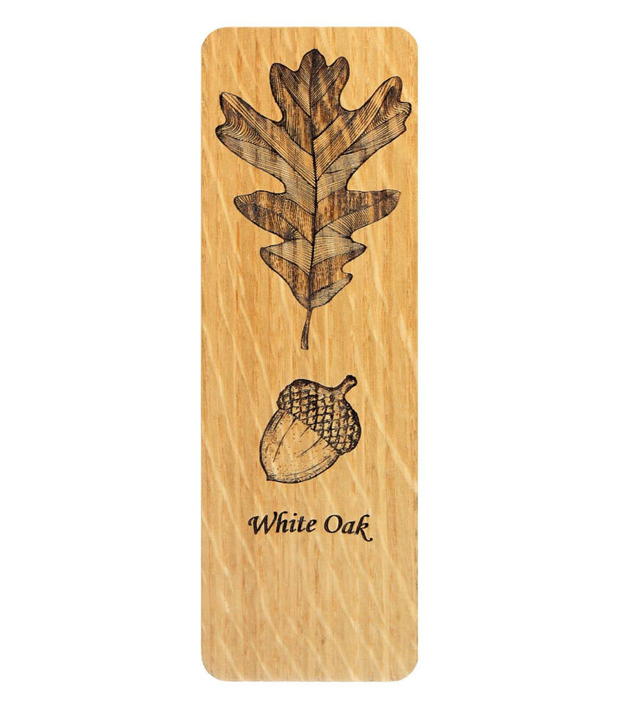 White Oak Leaf with Acorn Bookmark