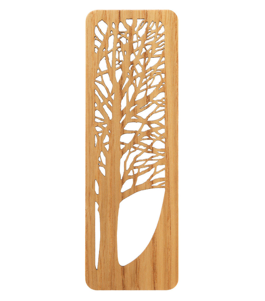 tree bookmark made from white oak