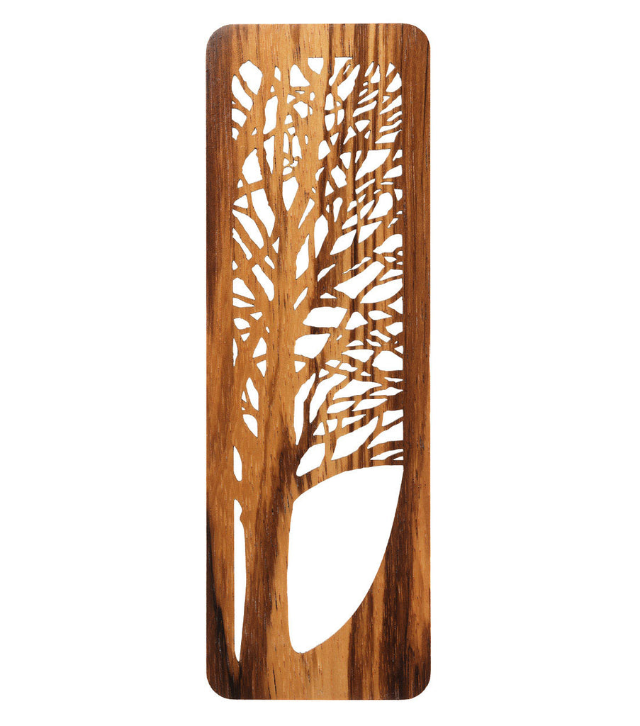 tree bookmark made from zebrawood