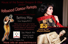 HOTBD Presents: Hollywood Glamour Portraits with Bettina May; Saturday, March 4.
