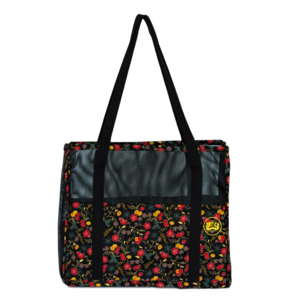 """Red & Gold Flora"" Combo (tote n wallet)"