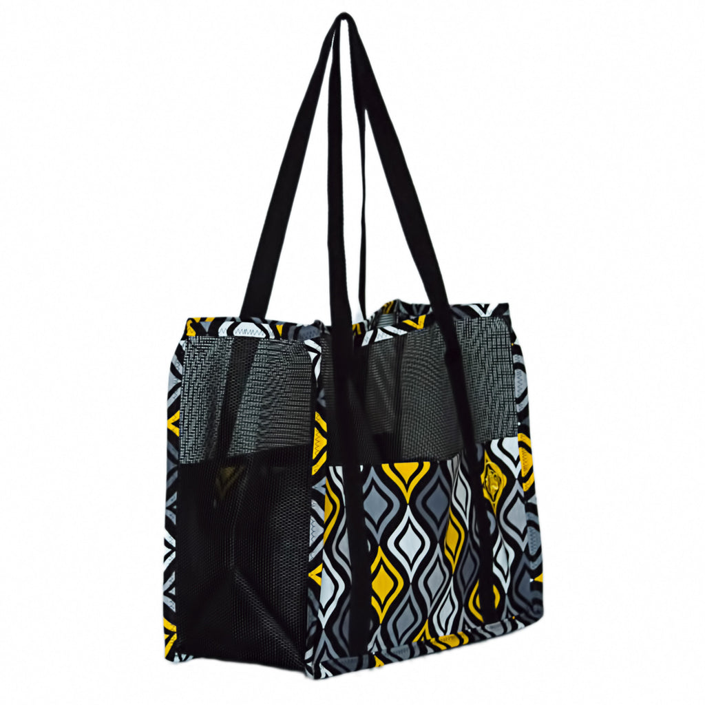 """Yellow Geo"" Combo (tote n wallet)"