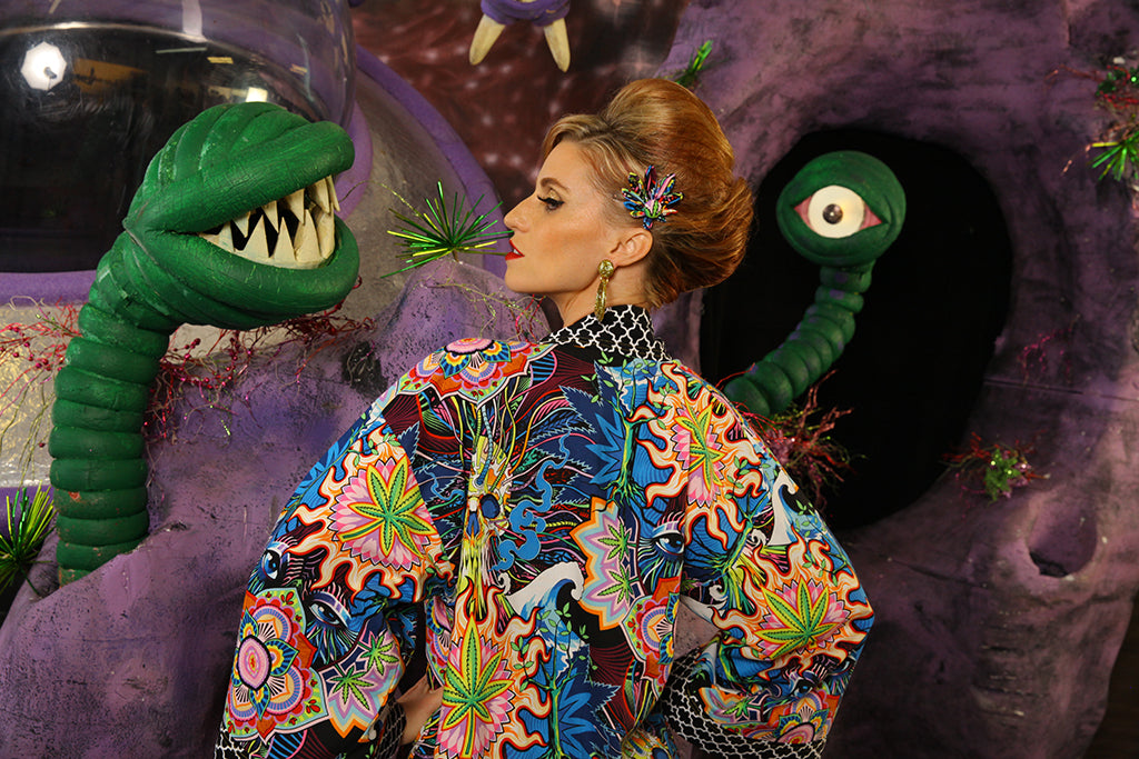 """Outta This World"" Kimono Coat"
