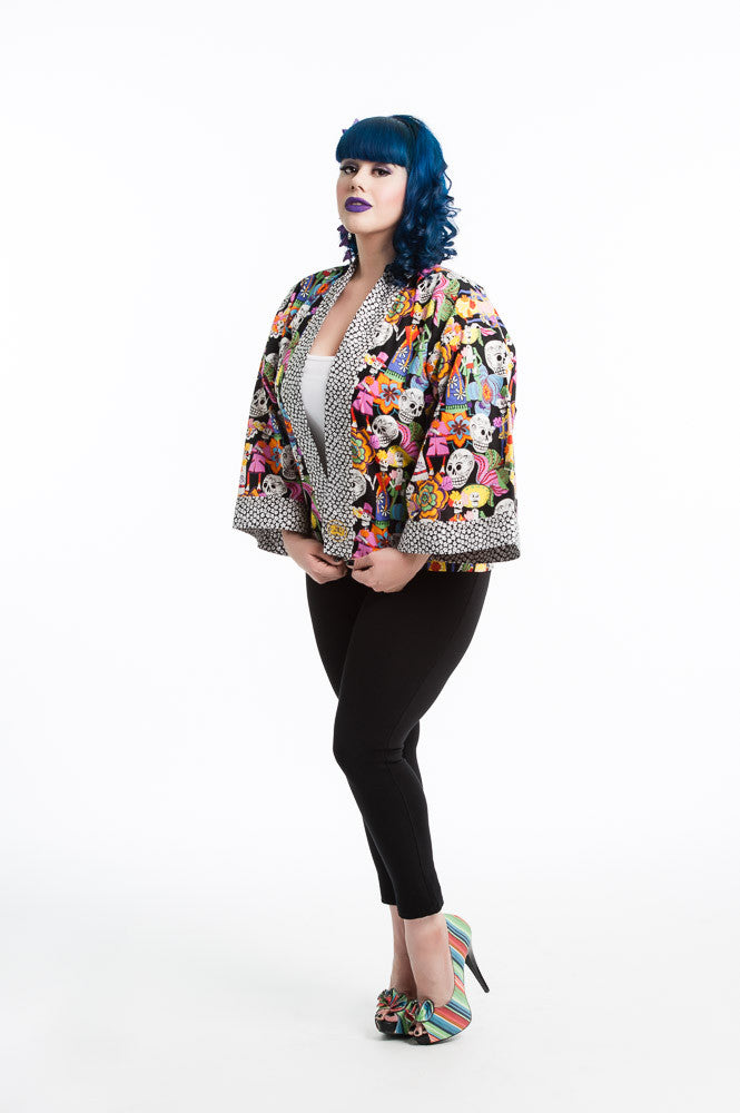 """Day of the Dead"" Kimono Hipster"