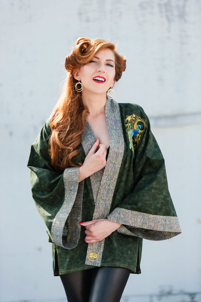 "SALE!! ""Pretty as a Peacock"" Kimono Jacket"