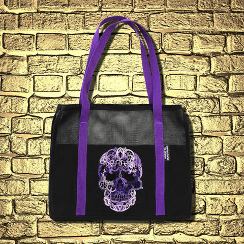 """Lace Skull"" Tote Bag"