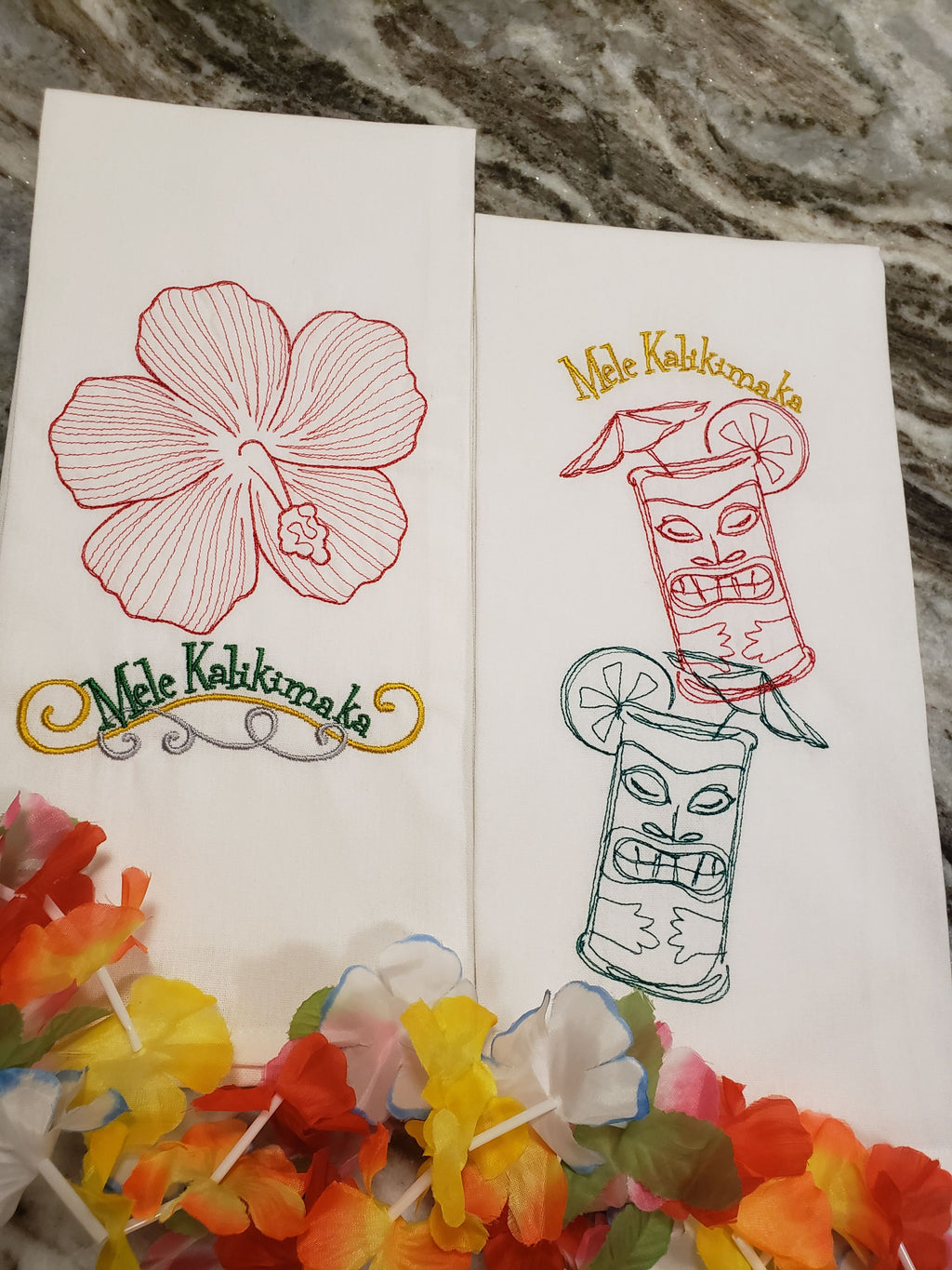 """Mele Kalikimaka"" Kitchen Towels"