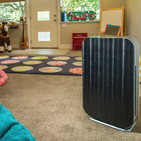 Alen BreatheSmart Flex with Black Safari Panel in kid's room