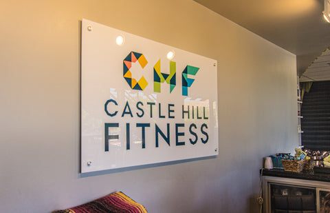 castle hill fitness entrance sign