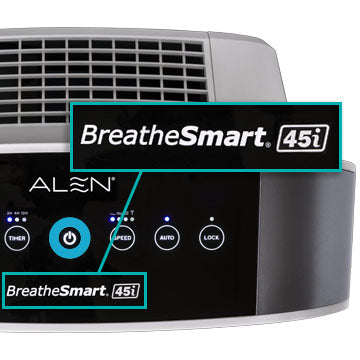 Alen BreatheSmart 45i Control Panel Close Up