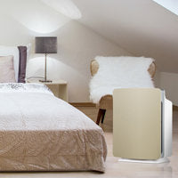Alen BreatheSmart FIT50 with Champagne Gold Panel in bedroom