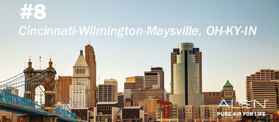 #8: Cincinnati-Wilmington-Maysville, OH-KY-IN