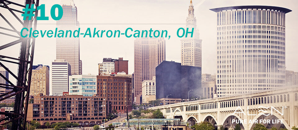#10: Cleveland-Akron-Canton, OH