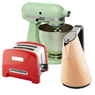 Assortment of metal household appliances