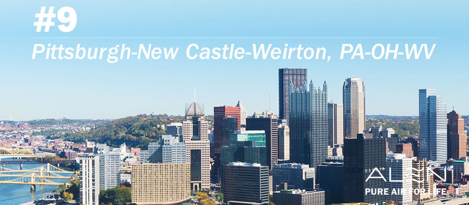 #9: Pittsburgh-New Castle-Weirton, PA-OH-WV