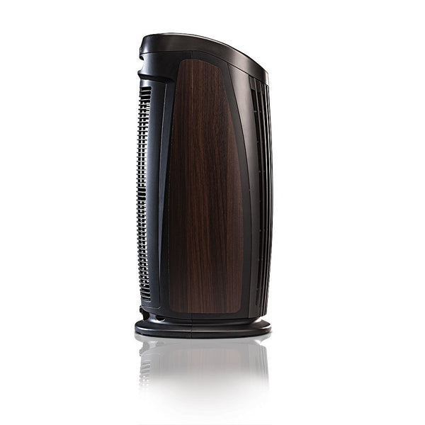 Alen T500 Tower Air Purifier For Asthma, Mold and Bacteria Black Espresso Inlay Side