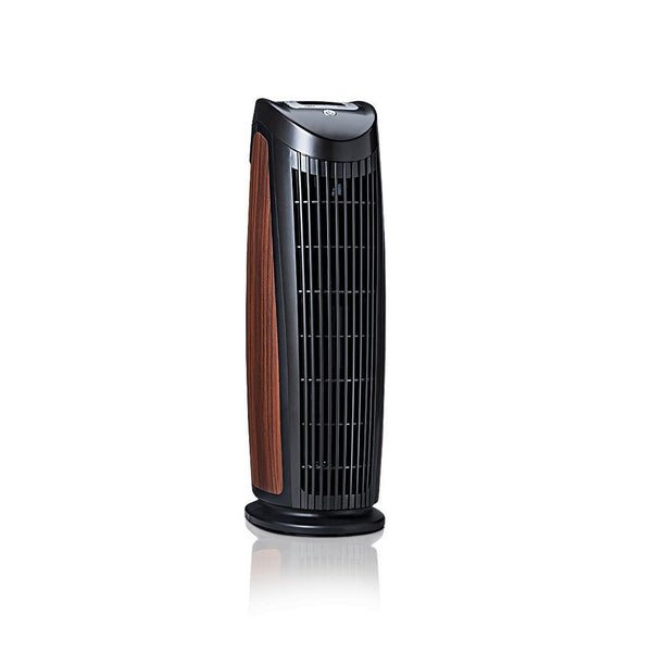 Alen T500 Tower Air Purifier For Asthma, Mold and Bacteria Black Rosewood Inlay 3/4 View