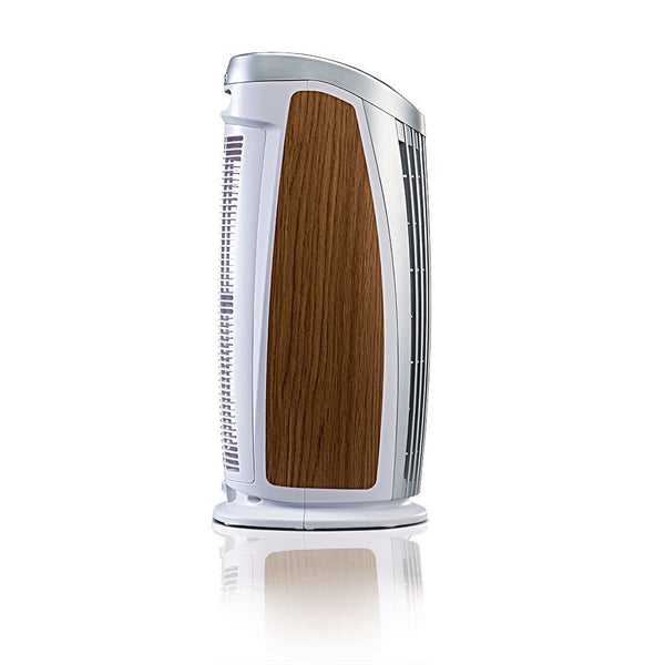 Alen T500 Tower Air Purifier For Asthma, Mold and Bacteria White Oak Inlay Side
