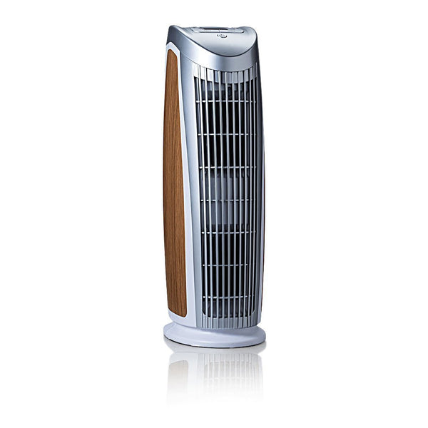 Alen T500 Tower Air Purifier For Asthma, Mold and Bacteria White Oak Inlay 3/4 View