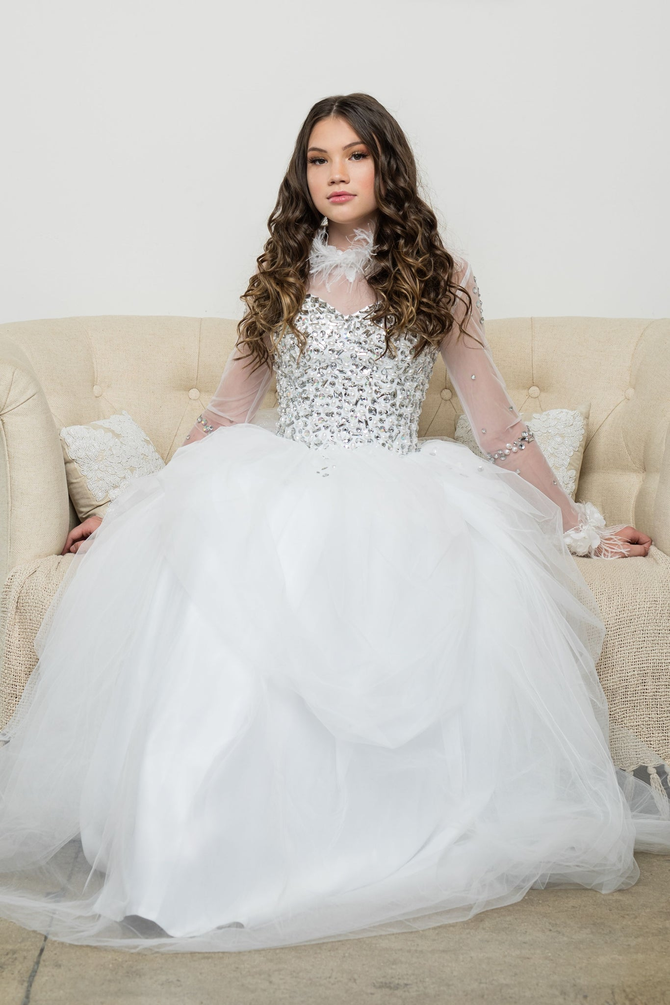 """Royal Empress""... A Luxurious Communion/Special Occasion Gown"