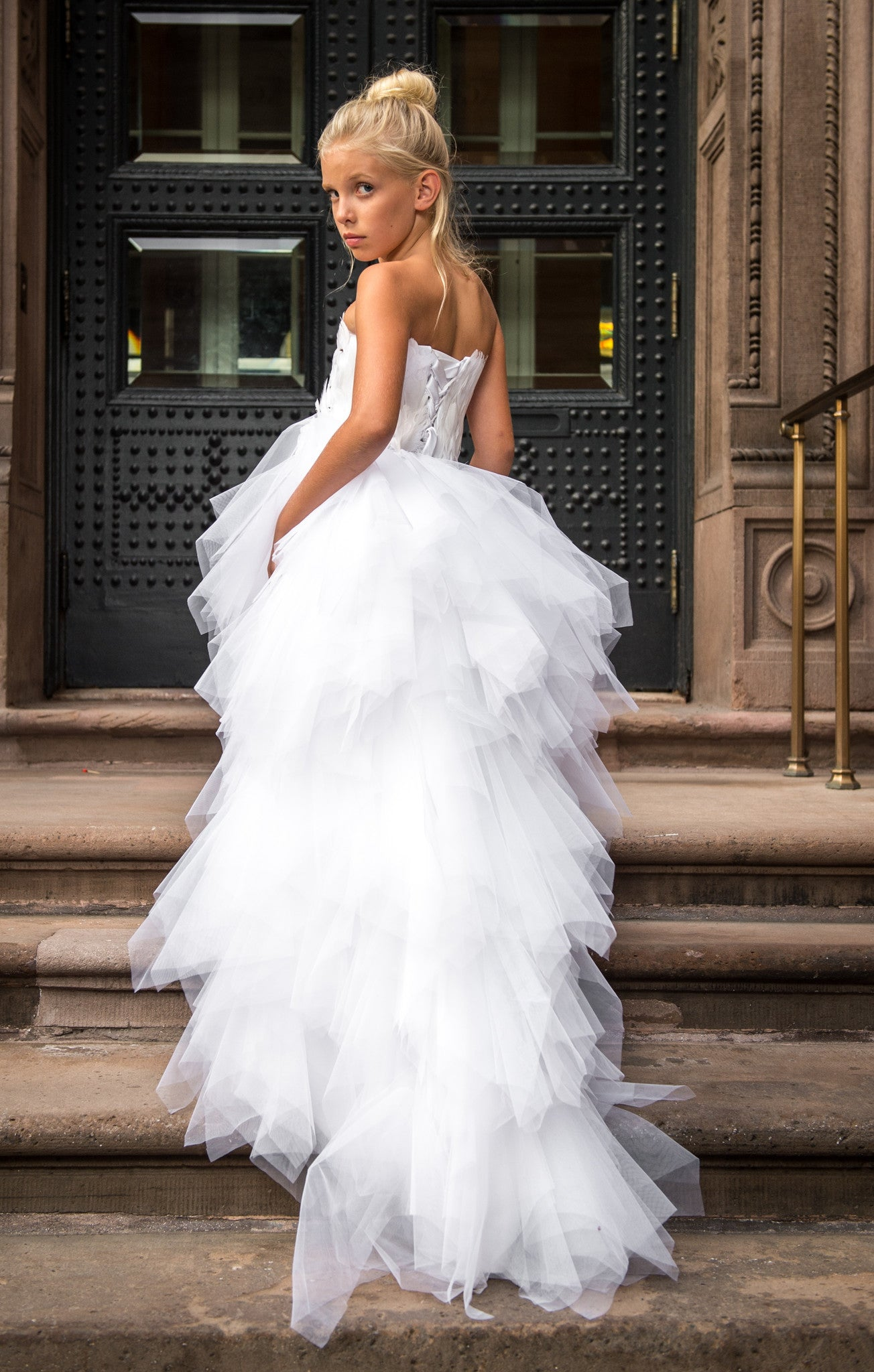 """The Swan Princess""... A Gorgeous Feather and Tulle Flower Girls Dress"