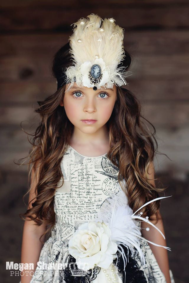 Sophia Feather Headpiece - Couture Hair Accessories