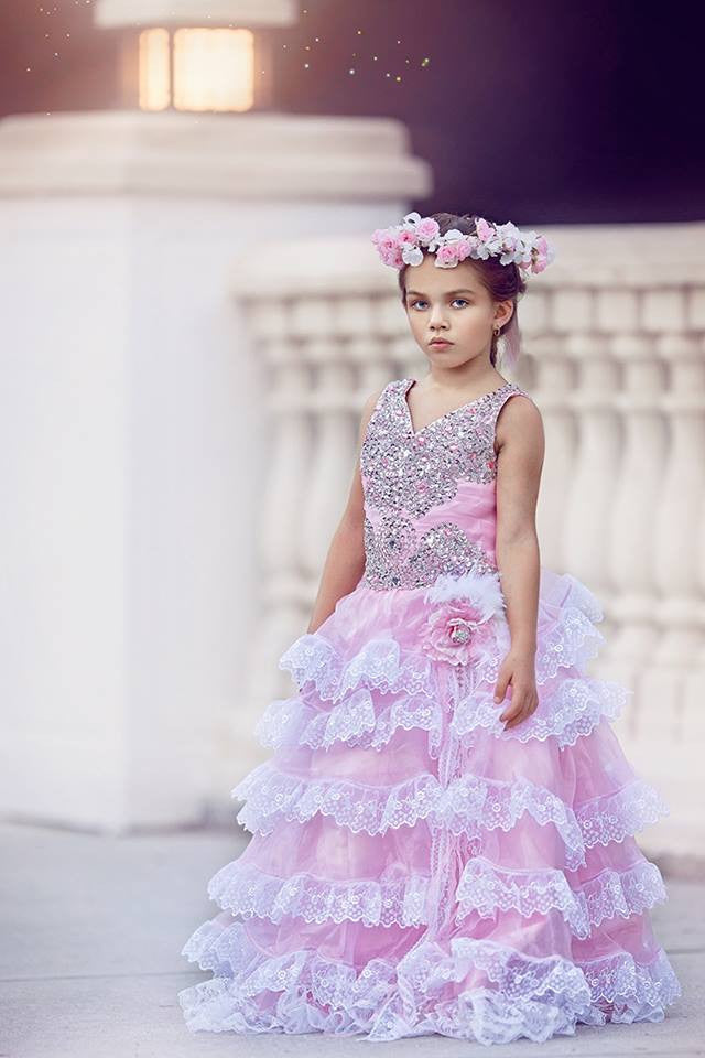 """Manhattan Dawn""...The Perfect Flower Girl Gown. Available in your color scheme!"