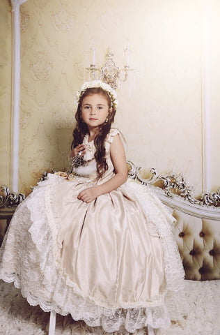 """Memories of Madrid""... A Beautiful Heirloom Flower Girl Dress"