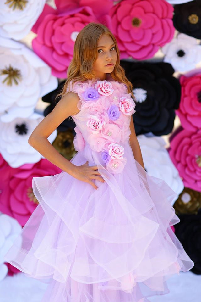 """Blooming Roses""... A Stunning Special Occasion Gown"