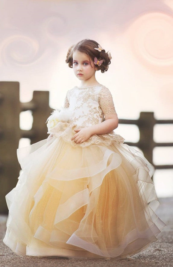 """The Golden Hour""... An Exquisite Flower Girl/Special Occasion Gown"
