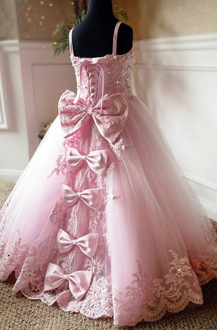 """Aglow In The Moment""... A Stunning Princess Style Flower Girl and Special Occasion Dress"