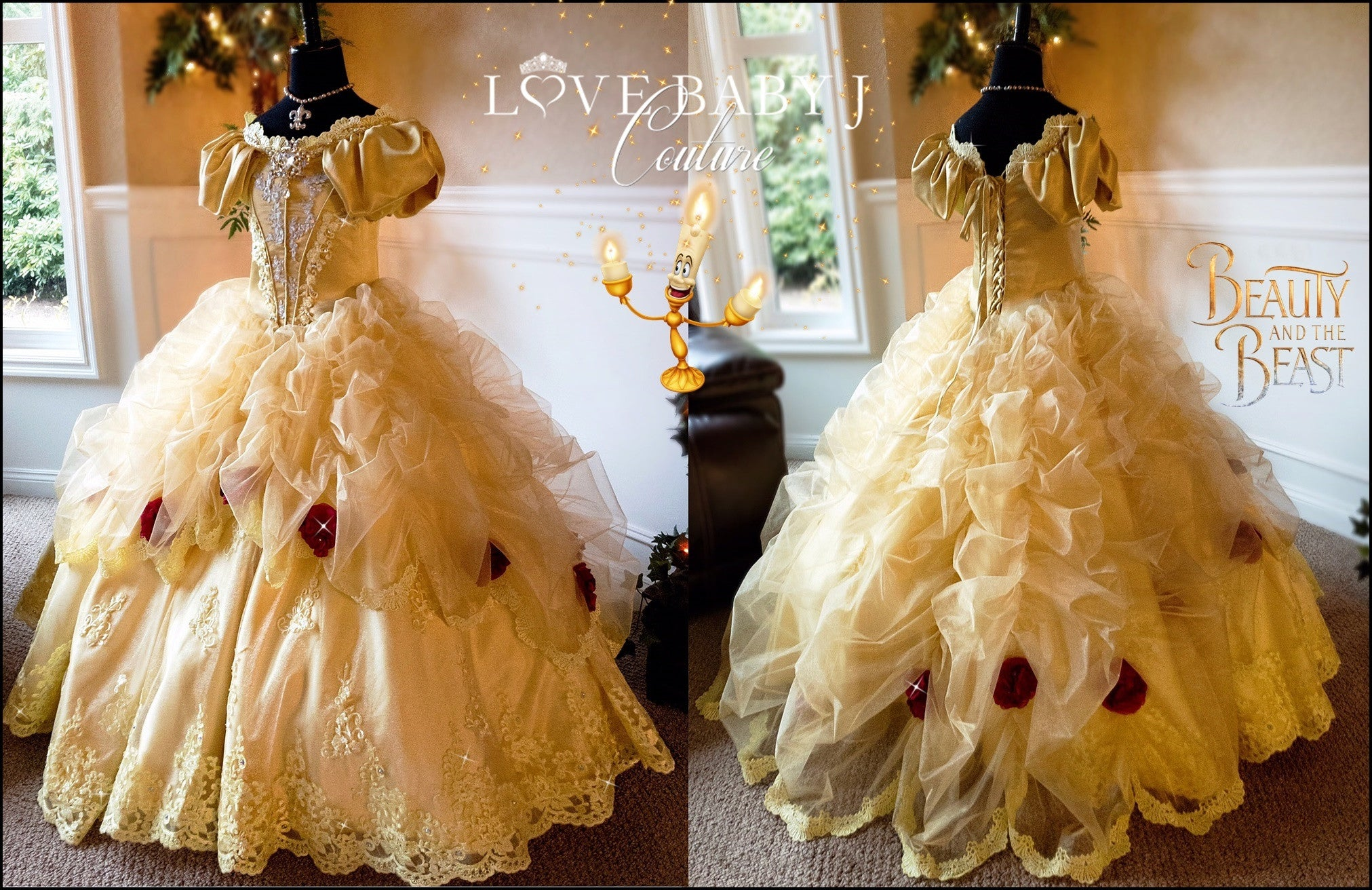 Belle A Luxurious Beauty And The Beast Inspired Ball Gown