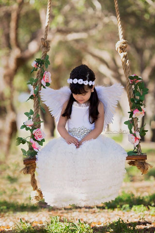 Beautiful Hand-Made Feather Angel Wings. Perfect For Toddlers & Young Ladies!