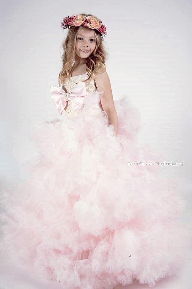 """Saltwater Melodies""... An Exquisite Ruffle Lovers Dream Gown!"