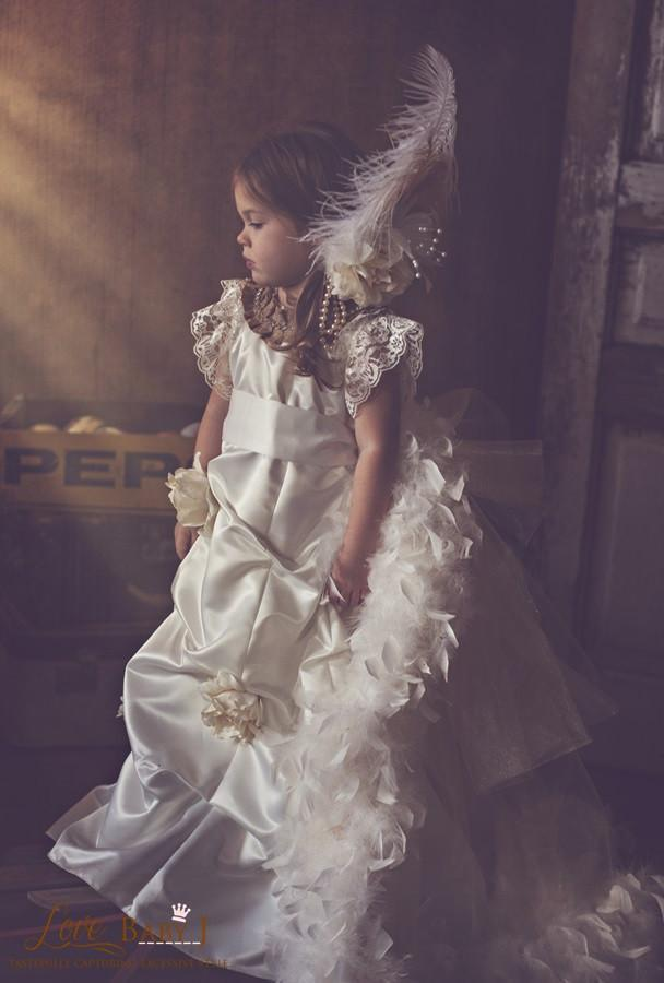 """Love Evangeline""...One of Our Unique Custom Made Flower Girl Dresses"