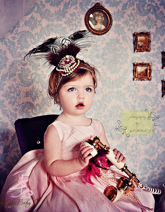 """She Steals The show""... Divine Vintage Couture Hair Accessories"