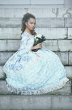 """Tea Time Tradition""... A French Floral Special Occasion Gown"