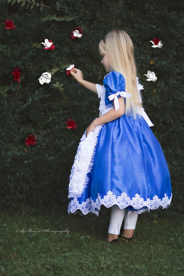 """Through The Looking Glass""... A Couture Alice In Wonderland Inspired Dress"