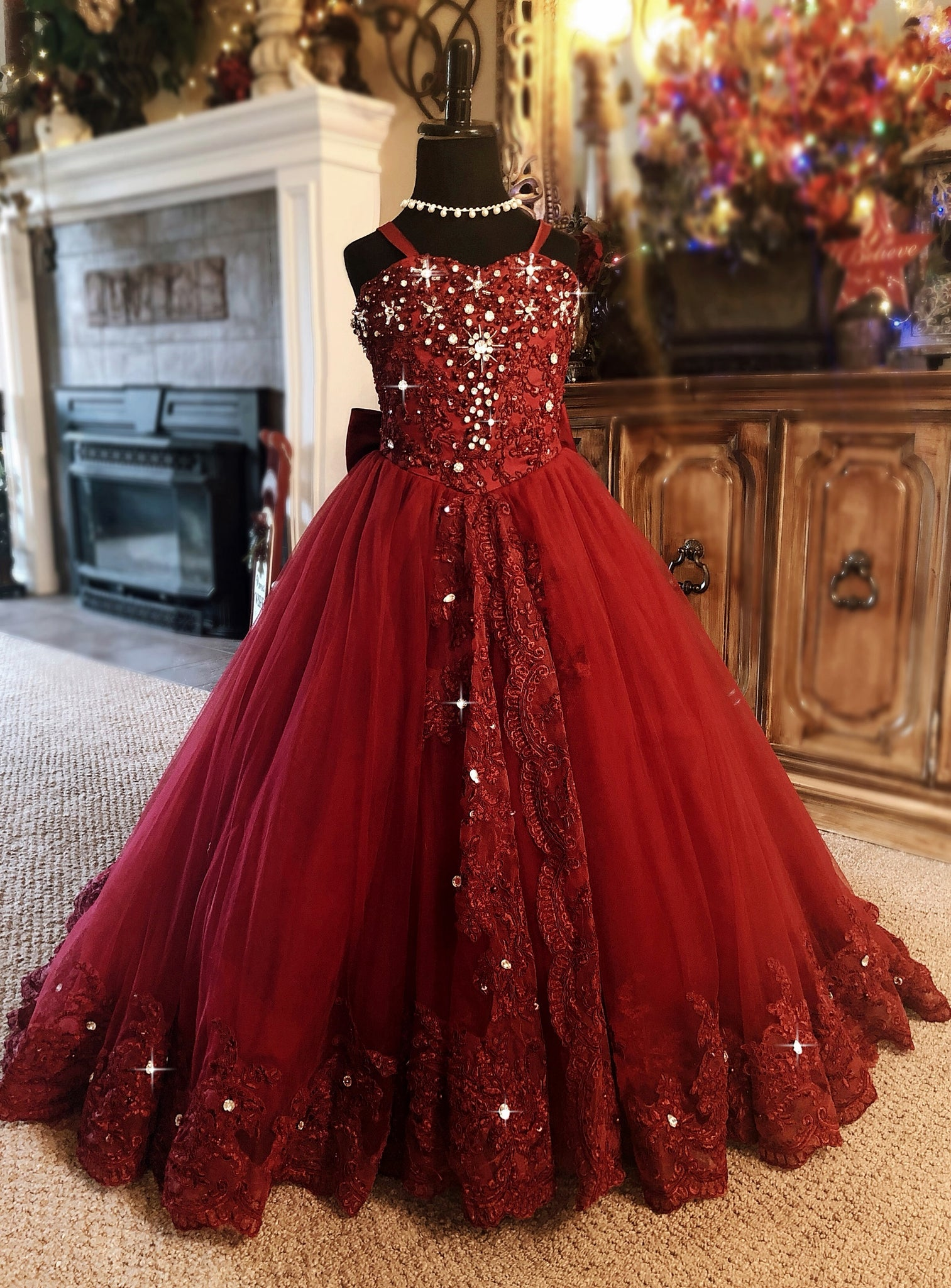 """Ruby Red Slippers""... A Couture Special Occasion Gown. Contact Customer Service For Adult Sizes Too!"