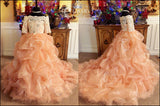 """Peach Reveries""... A luxurious Special Occasion Gown"