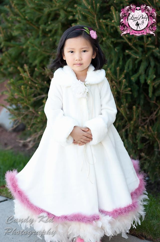 Fur Cape Style jacket- Cape Style Couture Children's Clothing