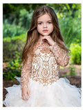 """Gold Glamour""... A Stunning High/Lo Flower Girl and pecial Occasion Dress"